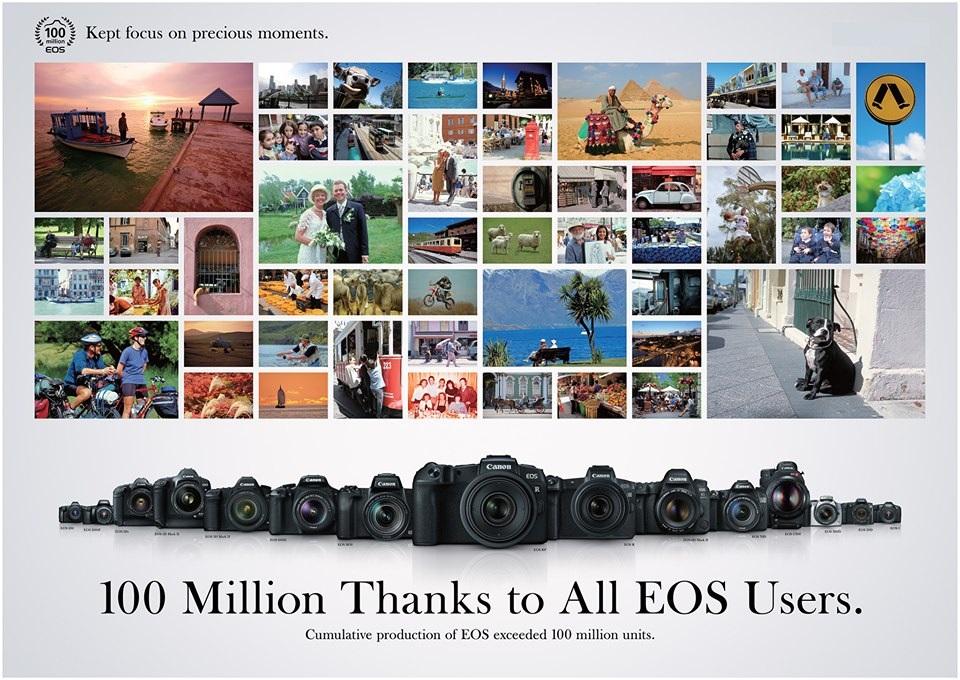 Canon vượt mốc 100 triệu máy ảnh dòng EOS dùng ống kính chuyển đổi