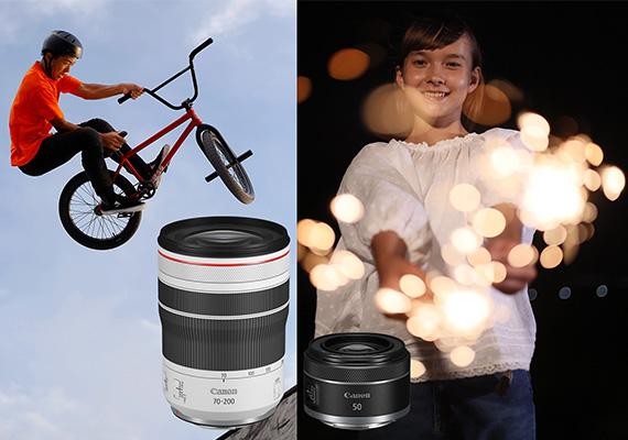Canon mở rộng dòng ống kính ngàm RF với model ống kính tele zoom và ống kính một tiêu cự mới gọn nhẹ, hợp túi tiền.